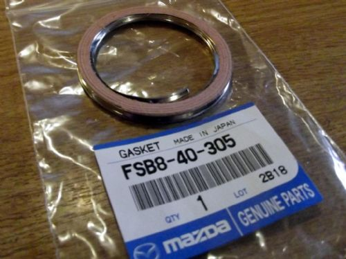Gasket, exhaust 475mm cat, MX-5 mk1, 1995 on, genuine Mazda, FSB840305